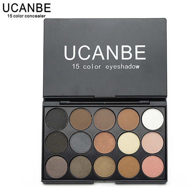Eye Makeup Set 15 Earth Color Matte Pigment Eyeshadow Palette Cosmetic Shimmer Eye Shadow Make Up Kit By UCANBE
