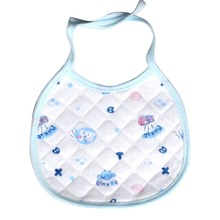 1 pc 2015 Infant baby cotton white bottom printing soft waterproof bibs keeping baby's neck clean slobber towel free shipping