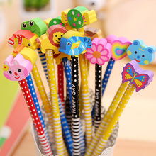 Buy 2016 Write constantly pencil primary school stationery prizes pencil set student prizes wholesale stationery children's eraser for $3.99 in AliExpress store