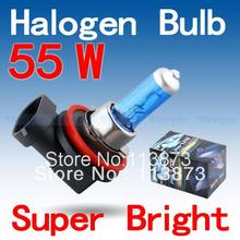 2pcs H11 Super Bright White Fog Halogen Bulb 55W Car Head Light Lamp parking car light source(China (Mainland))