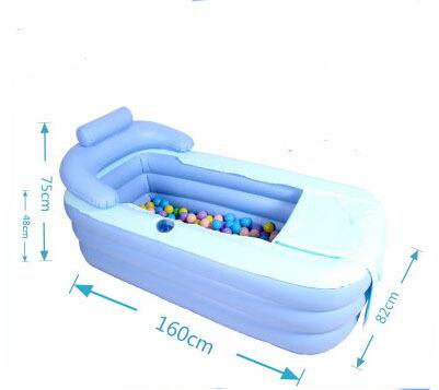 2015 New design Adult PVC Folding Portable Bathtub Inflatable Bath Tub With Zipper Cover hot sale nice designer(China (Mainland))