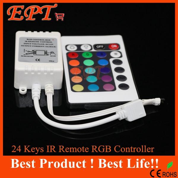 1PC Free shipping DC12V 24 Keys IR Remote RGB Controller for SMD3528/5050/5730/5630/3014 RGB LED Strip lights Mini Controller(China (Mainland))