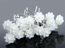 20Pcs Lots Crystal Diamante Rhinestone Wedding Bridal Party Lotus Flower Hair Clip Hairpin Women Hair Wedding