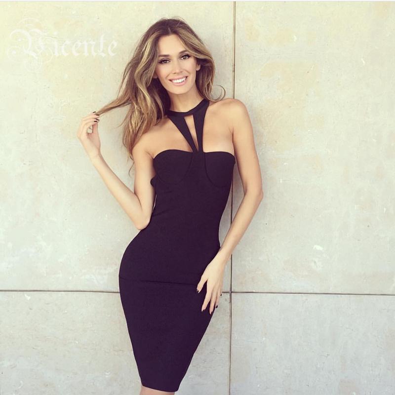 Free Shipping! 2015 New Elegant Black Sexy Strapless Halter Design Celebrity Style Wholesale HL Bandage DressОдежда и ак�е��уары<br><br><br>Aliexpress