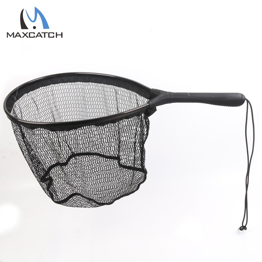 Maximumcatch Fly Fishing Landing Net Flat Bottom Nylon Fishing Landing Net Fishing Net(China (Mainland))