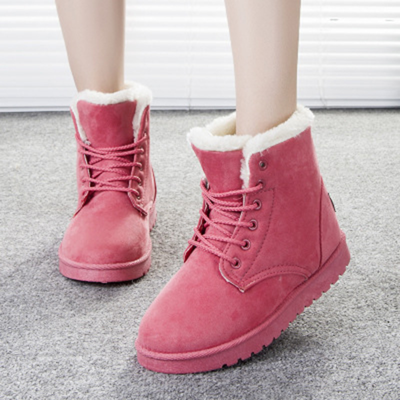 2016 New Arrival Women Winter Boots Botas Femininas Warm Snow Boots Fashion Platform Ankle Boots 7 Color(China (Mainland))
