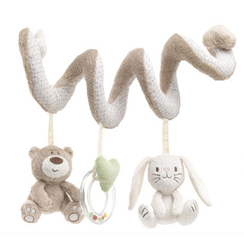 Гаджет  Baby Crib Toys Baby Cot Bed Musical Mobile Soft Plush Rabbit Stroller Hanging Rattle Toy Newborn Gift None Игрушки и Хобби