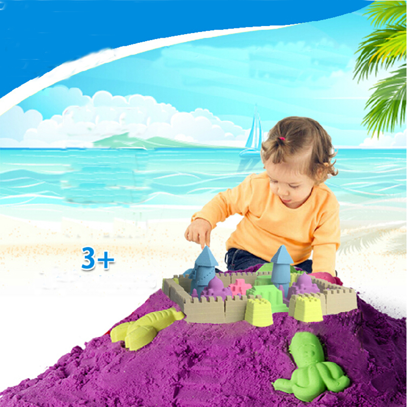 2015 Hot sale 500G dynamic Amazing DIY educational toys No-mess Indoor Magic Play Sand Children toys Mars space sand 7 colors(China (Mainland))