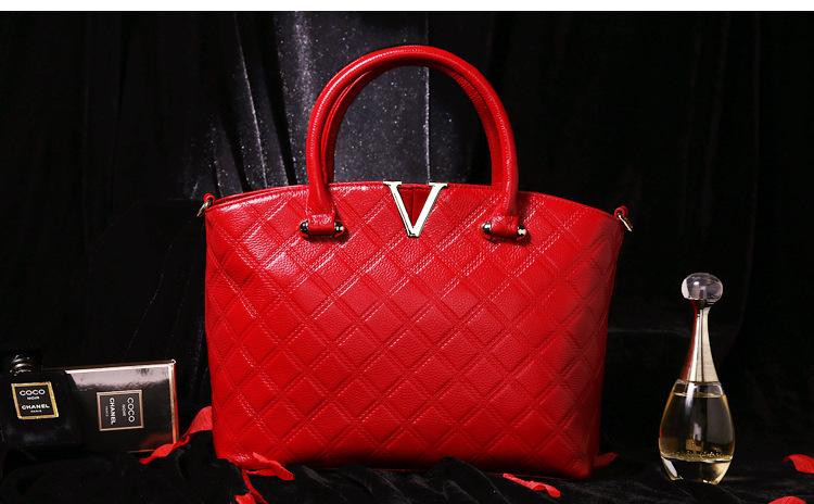 2016 fashion genuine leather bag women handbag real genuine leather shoulder bag black big top qualtiy bag tote<br><br>Aliexpress