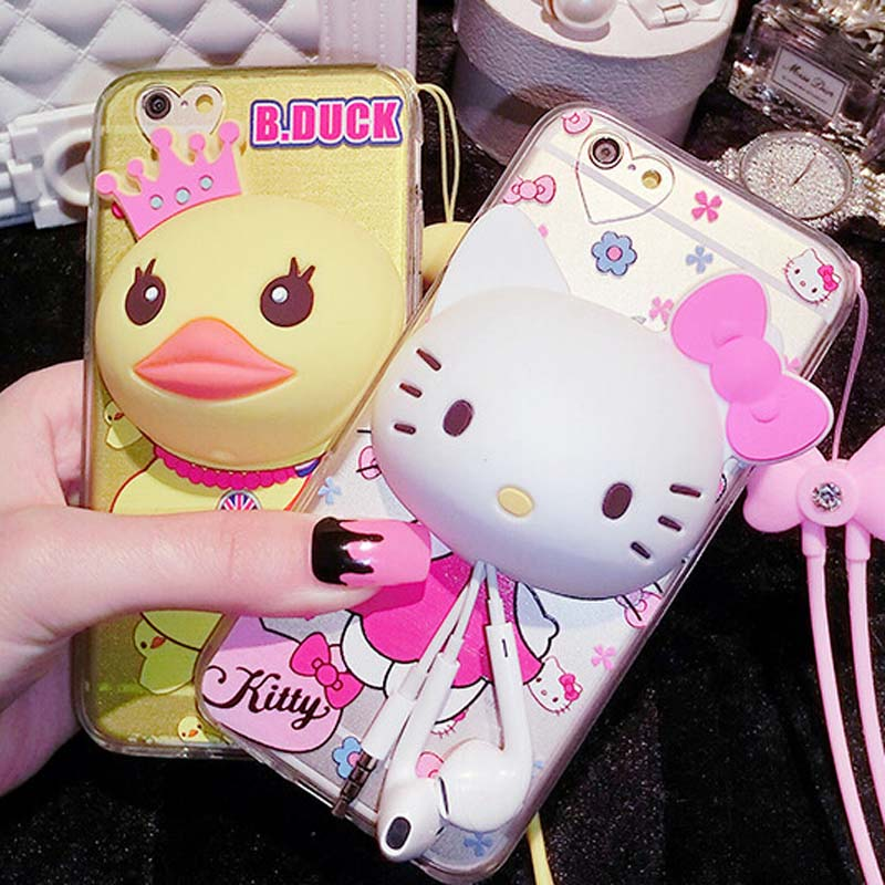 4 type 3D Cute cartoon Hello kitty Silicon phone cases cover with Headset Cable Winder,Cell Phones shell for iphone 5,5s,6,6plus(China (Mainland))