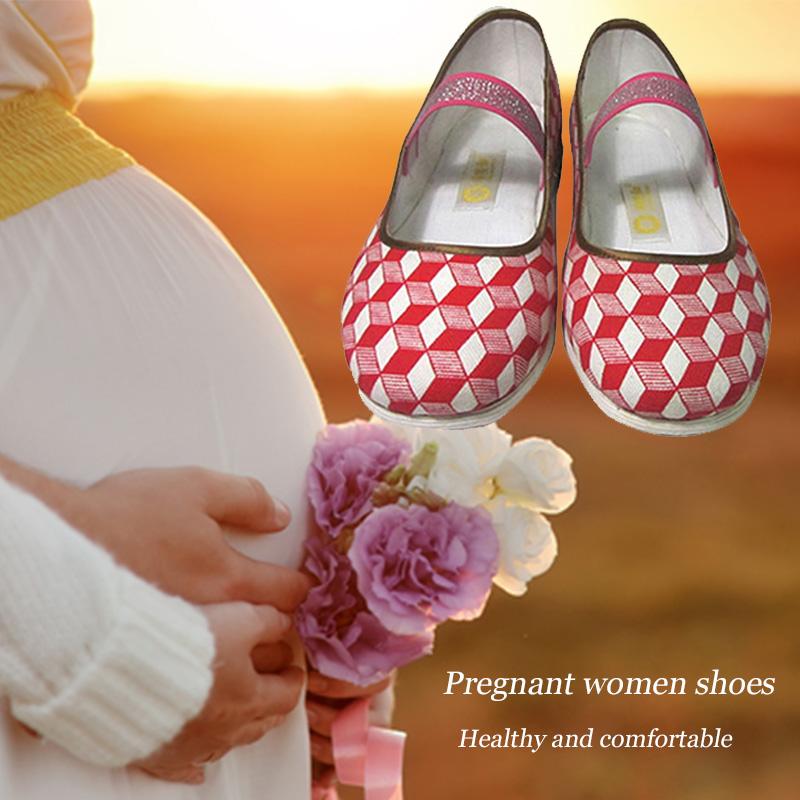 Tradicional Anti sudor zapatos embarazadas mujeres chinas pisos embarazadas bordado respirable , zapatos tradicionales zapatos de la enfermera 34-40(China (Mainland))
