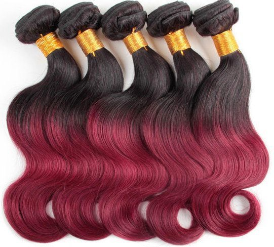 beauty forever Brazilian virgin remy hair extension two color,6A grade Brazilian hair weaving body wave, hair weft 3pcs 100g/pc