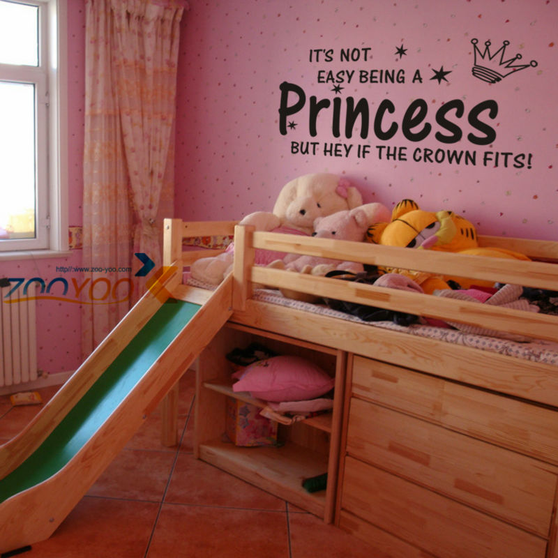 It's Not Easy Being creative Crown wall decal vinyl Kids princess wall stickers boys girls home decor wall art decals(China (Mainland))