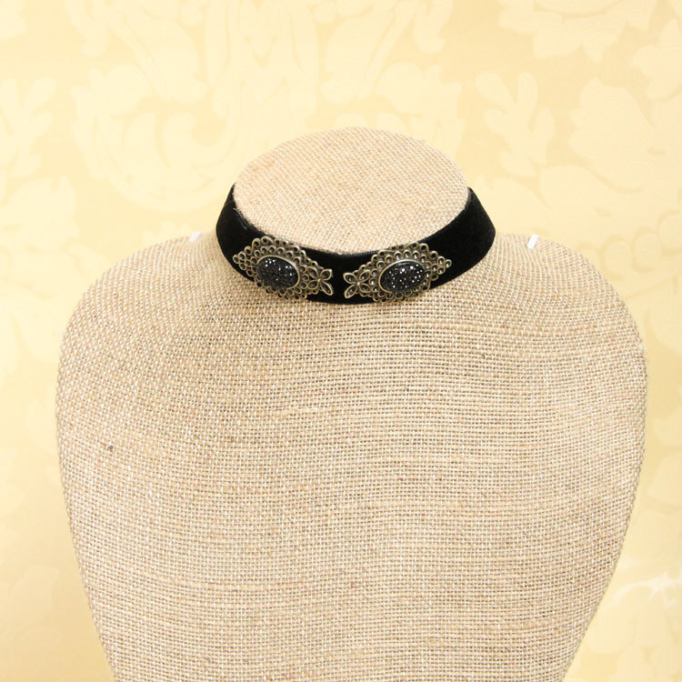Black ribbon necklaces mexico china wholesale chokers manufacturer alibaba in spanish hot new products for 2014(China (Mainland))