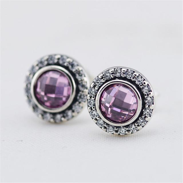 925 серебряные ювелирные изделия фиолетовый кристаллы женщины серьгу женские гипоаллергенные мода DIY ювелирных аксессуаров