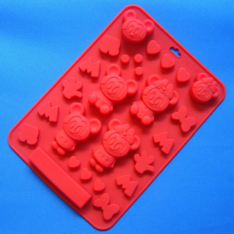 Style (1pc/lot) Cartoon Silicone Chocolate Mold Mickey Mouse Shape Cake Biscuit Bakeware - Xinda Store store