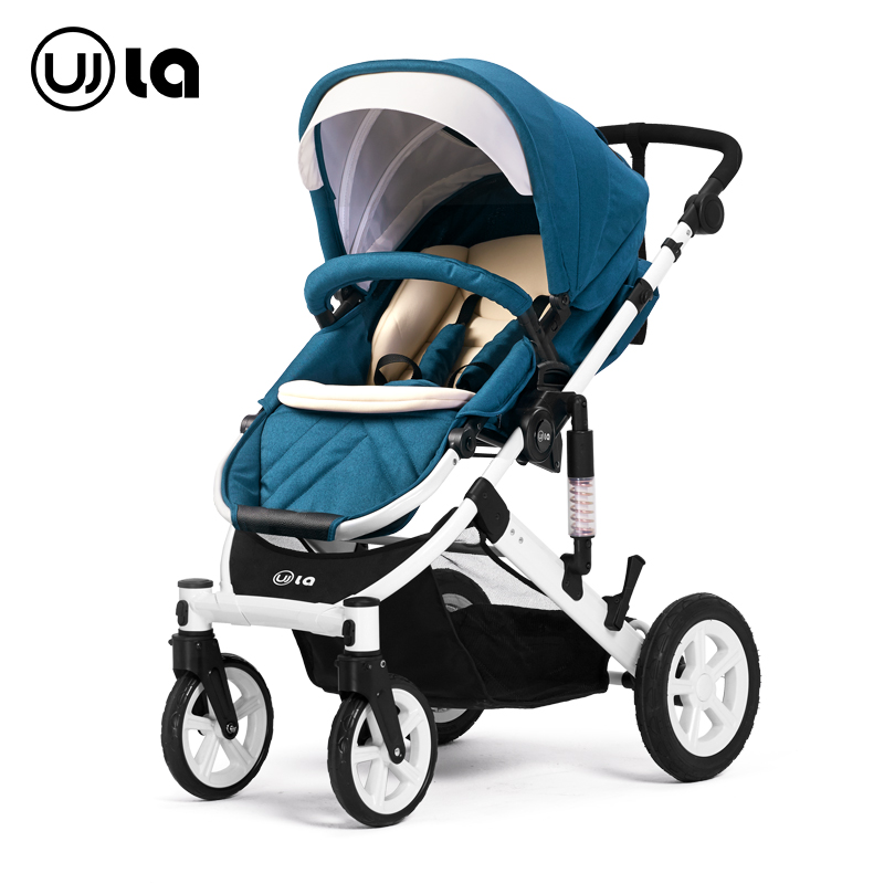 Stroller high landscape can sit can lie the pram ultra lightweight suspension fold reduction baby cart european strollers WLA31(China (Mainland))