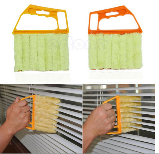 Diy blinds cleaning brush washable vertical window blinds brush cleaner mini 7 shape hand held - Diy tips home window cleaning ...