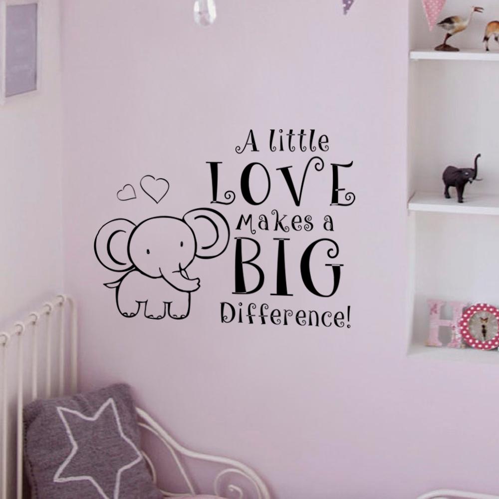 Elephant Baby Room Decal Nursery Room Wall Decal A Little