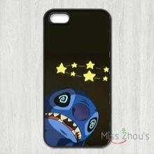 For iphone 4/4s 5/5s 5c SE 6/6s plus ipod touch 4/5/6 back skins mobile cellphone cases cover Lilo & Stitch fashion Funny