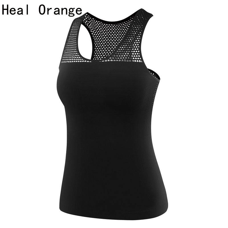 HEAL ORANGE Women Dry Fit Shirts Yoga Shirt Yoga Top Women's Sports Shirt Female Fitness Gym Clothing Women Yoga Tank Blusa Yoga(China (Mainland))