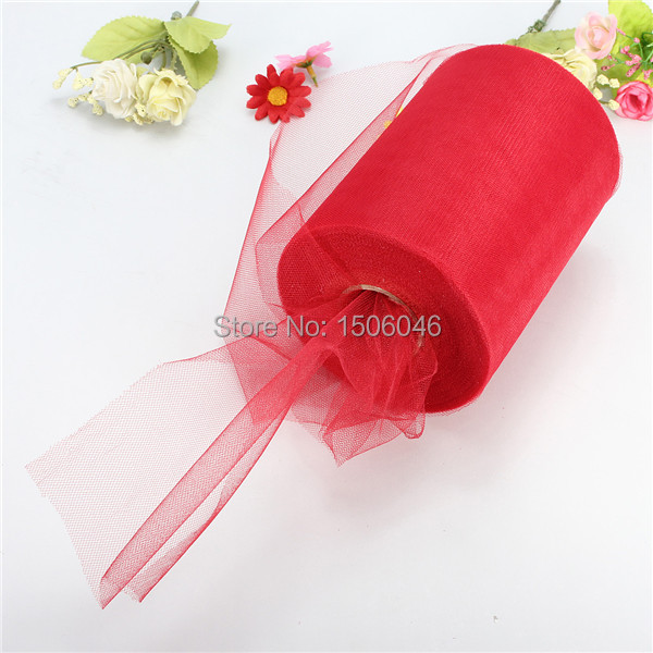 Pick Color Matt Tulle Roll Spool 6inch x 100yard (6inch x 300ft) Tutu Wedding Gift Party Bow 20D Free Shipping(China (Mainland))