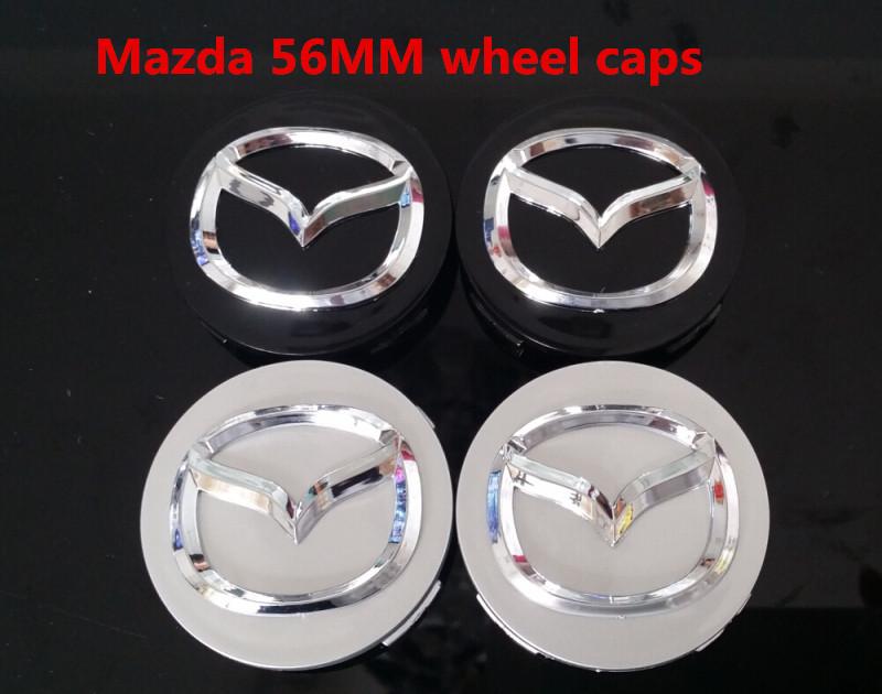 high quality 100pcs mazda wheel center caps hub cover caps logo car emblem badges for mazda 2 3 5 6 CX-5 CX-7 CX-9 RX8 626 323<br>