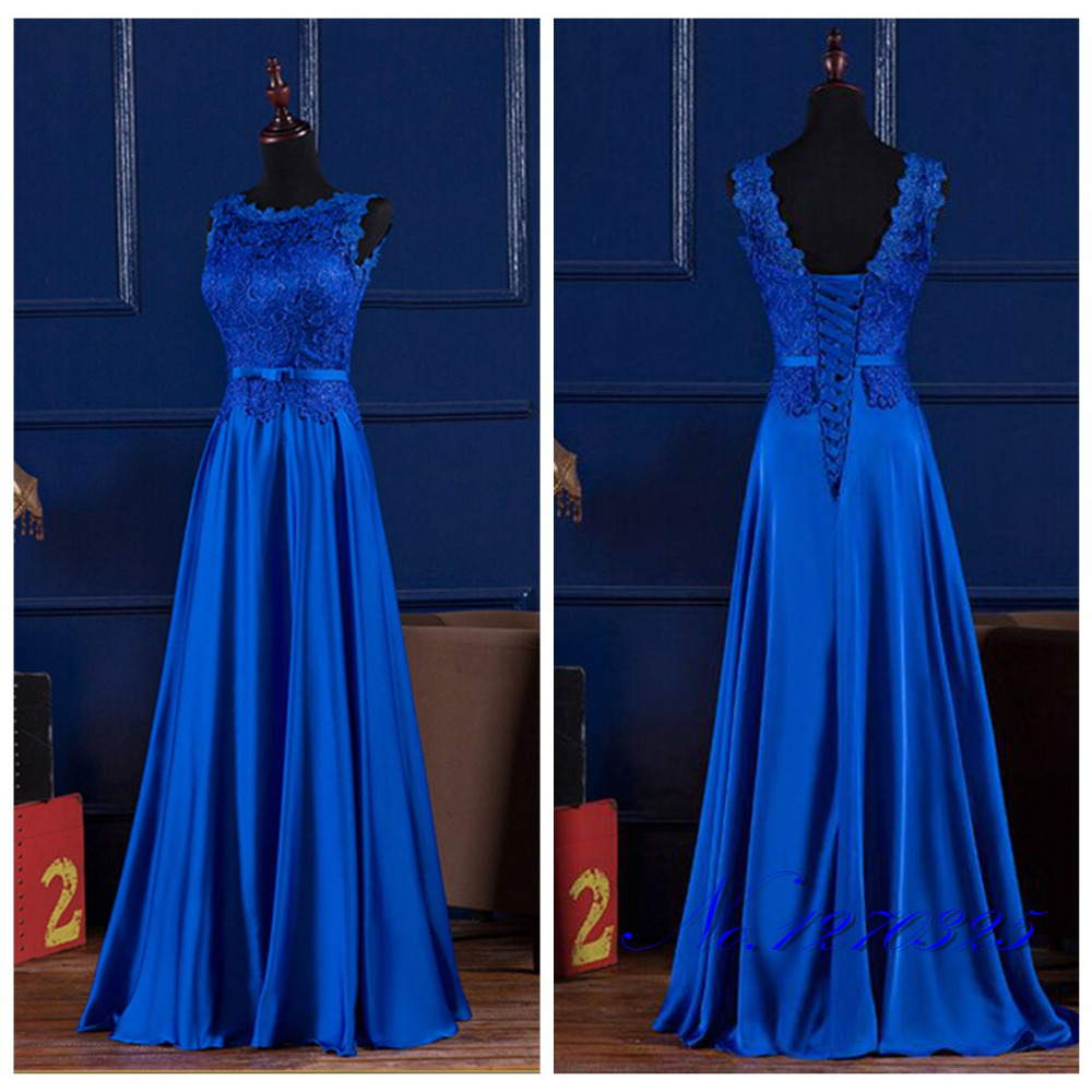 Plus size bridesmaid dresses royal blue formal dresses for Blue wedding dresses plus size