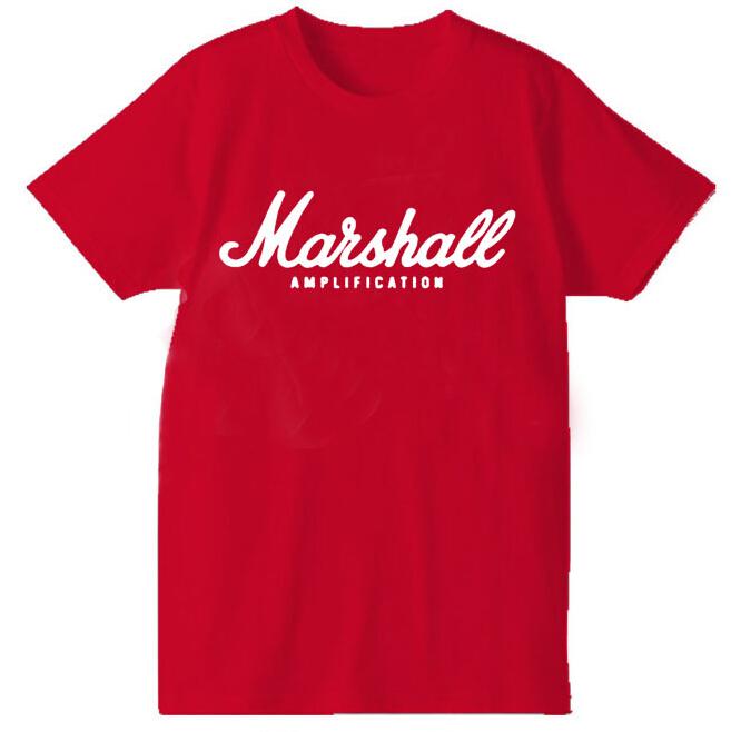 MARSHALL Amplication AMP Rock Band Metal Logo Men Black T shirt Printed custom T-shirt(China (Mainland))