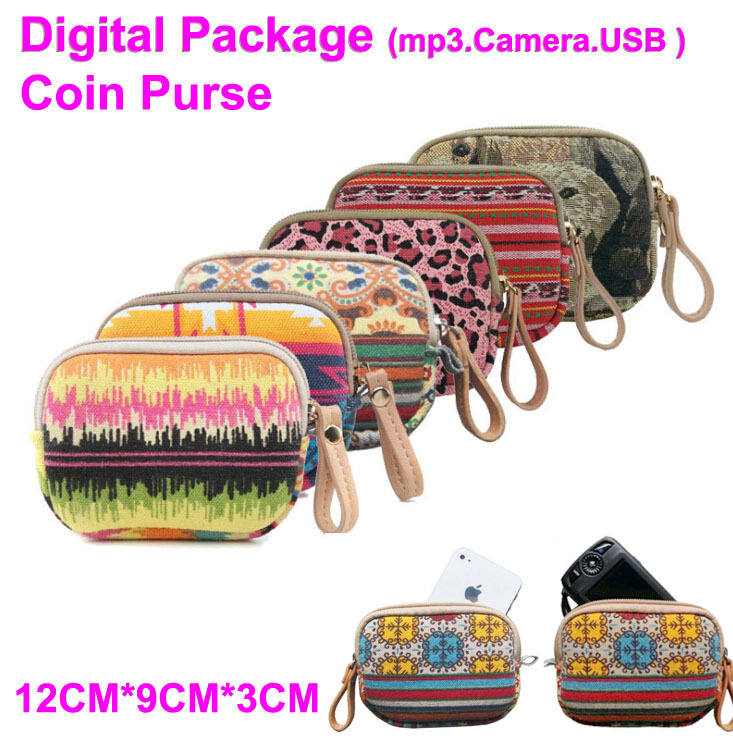 2015 New Style Bohemia style Casual Sleeve Cases Tablet PC Bags&Cases For ipone mini kiple wallet Coin Purses(China (Mainland))