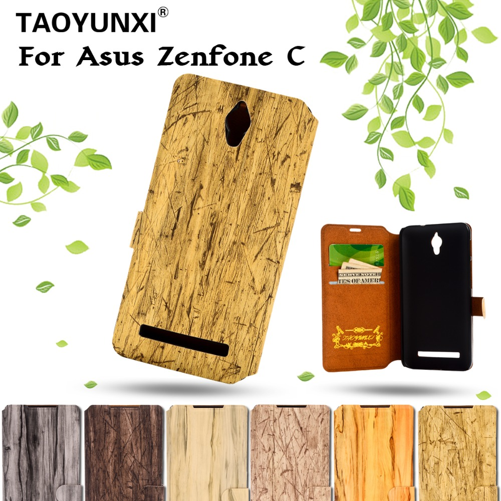 Luxury Tree Veins Magnetic Leather Case For Asus Zenfone C zc451cg Wallet Mobile Phone Bags For Zenfone C With Stand Function