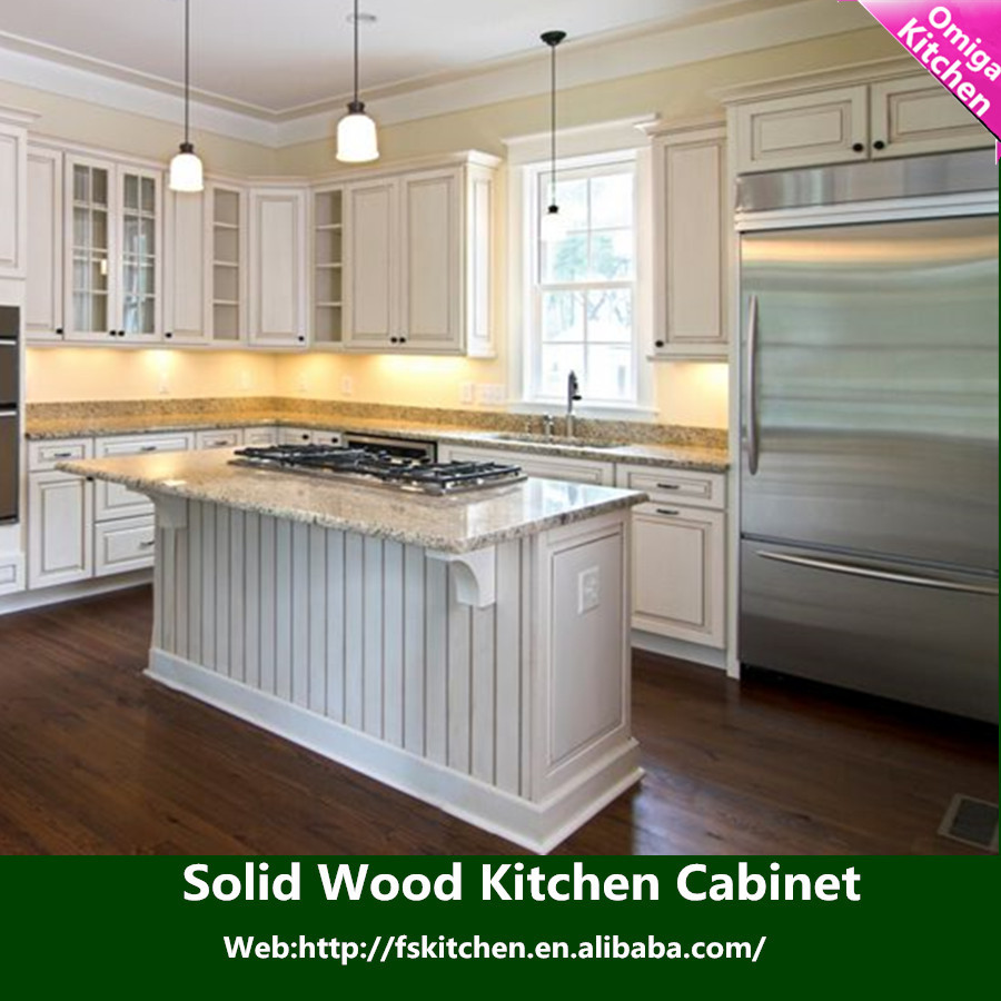 European standard solid wood kitchen cabinet in furniture for Solid wood cabinets