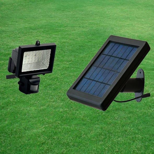 Outdoor led solar PIR Sensor wall flood light in