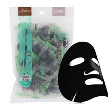 40 Pz/lotto Naturale Fibra di Bambù del Carbone di legna di Alta Qualità della Mascherina della Carta Compressa Maschera per Il Viso Maschere Monouso Foglio di Bellezza Delle Donne Nero(China (Mainland))