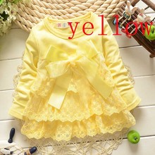 more 20 styles 2015 Hot sale baby dress New Casual Girls Top Kid Lace Bow Princess Long Sleeve Dress toddlers Clothes(China (Mainland))