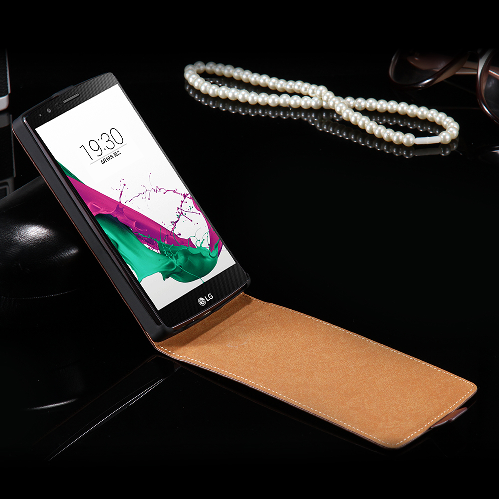 G4 New Business Style Simple Vertical Flip Leather Case For LG Optimus G4 H815 H811 H810 VS986 LS991 F500 Full Protective Cover(China (Mainland))