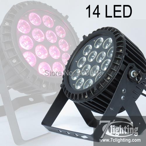 4pcs/Lot Outdoor LED PAR RGBWA 14x15W LED Flat Par IP65 RGBWA Mege PAR Dmx 5/9CH(China (Mainland))