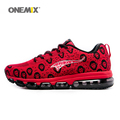ONEMIX 2017 Man Running Shoes Men Nice Run Athletic Trainers Monkey Red Black Sports Shoe Max