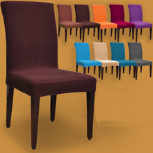 Thick Fabric Colorful Spandex Dining chair cover Hotel Chair Covers for Restaurant Wedding Home Decoration Chair Splipcovers(China (Mainland))