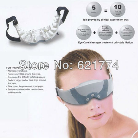 Brand New Hot Health Eye Care Massager Eye Mask Alleviate Fatigue Massager Gift With Retail Box Free Shipping