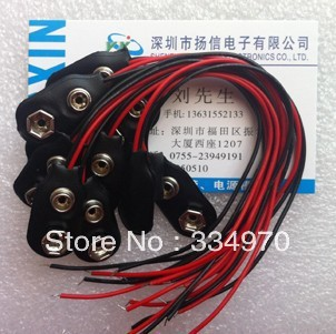10pcs 9 v battery button 9 v battery clasp the promotion(China (Mainland))