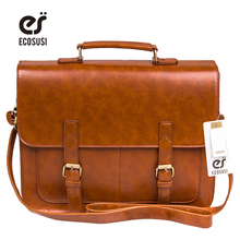 Ecosusi Vintage Men Messenger Bags Brand  Satchel men's briefcases office men crossbody bags(China (Mainland))
