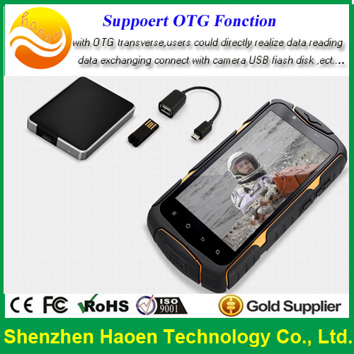 HOT NO.1 X-Men Android 4.4 Quad Core Cellphones IP68 Waterproof Shockproof Rugged Phones 5.0'' IPS Mobile Phone with OTG GPS(China (Mainland))