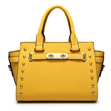 New Women Genuine Cow Split Leather Candy Color Zipper Yellow Casual Tote Hand Bag Famous Brand Designer Handbags High Quality
