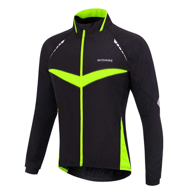 WOSAWE Windproof Waterproof Cycling Jacket Long Sleeve Jersey Winter Autumn Warm Up Clothing Cycling Wear Reflective Jacket<br><br>Aliexpress