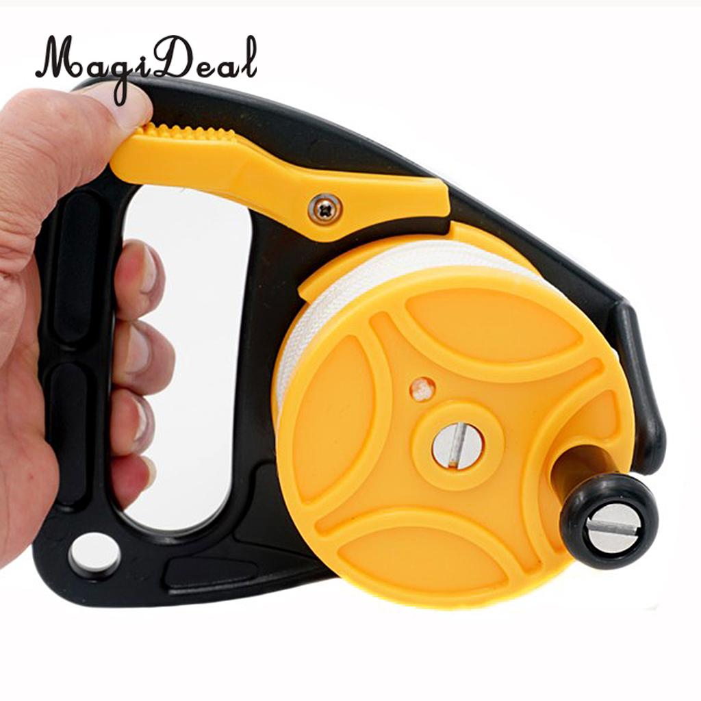 MagiDeal Universal Underwater Scuba Diving Dive Wreck Reel 150ft Line With Plastic Handle Wheel for Swimming Pool Water Sport