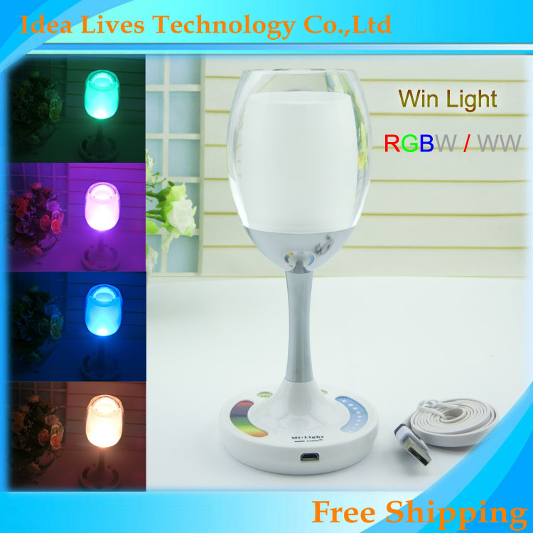 2W 2.4G Mi light Wireless Group LED Lamp USB cycle charge RGBW Magic Crystal Glass Win Light for Party(China (Mainland))