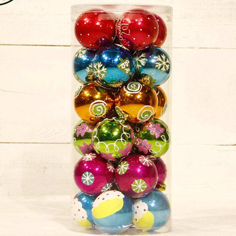 24pcs 6cm wholesale top quality luxury plastic christmas for Christmas decoration suppliers