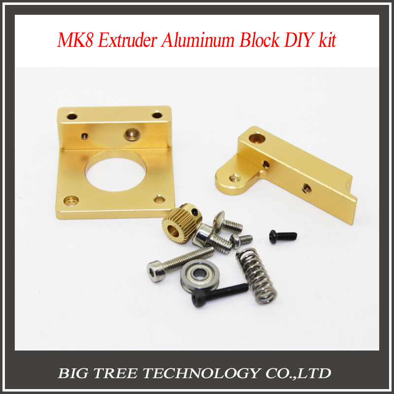 3D printer accessories 3D MK8 DIY Makerbot MK8 extruder aluminum block DIY kit
