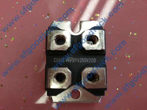 BYV255V200 S.T.M HIGH EFFICIENCY FAST RECOVERY RECTIFIER DIODE 200V 100A 4-Pin ISOTOP Weight:27g 10pcs/Tube Free Shipping(China (Mainland))